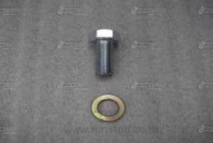 Bracket screw with ring